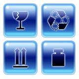 Símbolos de empacotamento 01 Imagem de Stock