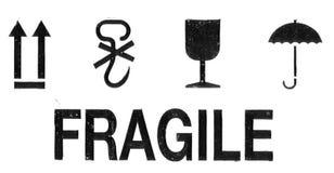 Símbolos de empacotamento de Grunge Foto de Stock