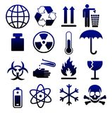 Símbolos de empaquetado 05 Imágenes de archivo libres de regalías