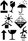 Símbolos de empaquetado del rectángulo Imagen de archivo