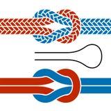 Símbolos de escalada do nó da corda ilustração stock
