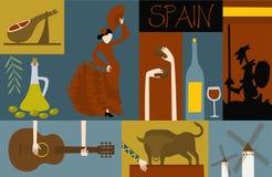 Símbolos de España stock de ilustración