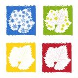 Símbolos de estações de quatro anos Fotos de Stock Royalty Free