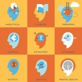 Símbolos de estados da mente humana Fotografia de Stock