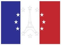 Símbolos de Francia y de la UE Imagen de archivo