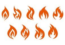 Símbolos de fuego Foto de archivo libre de regalías