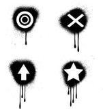 Símbolos de Grunge Fotografía de archivo libre de regalías