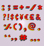 Símbolos de Grunge 3D Imagens de Stock