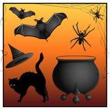 Símbolos de Halloween Imagens de Stock