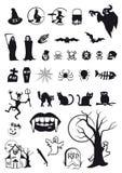 Símbolos de Halloween Fotografia de Stock Royalty Free