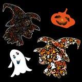 símbolos de Halloween Foto de Stock