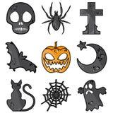 Símbolos de Halloween Ilustração Stock