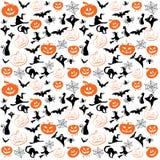 Símbolos de Halloween para el fondo stock de ilustración