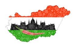 Símbolos de Hungría Fotos de archivo libres de regalías