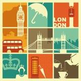 Símbolos de Inglaterra ilustración del vector