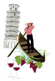 Símbolos de Italy ilustração royalty free