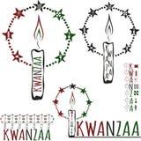 Símbolos de Kwanzaa Imagens de Stock