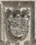 Símbolos de la armería con las pistas del caballero Imagenes de archivo