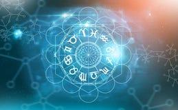 Símbolos de la astrología del zodiaco imagen de archivo libre de regalías