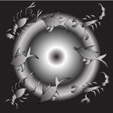 Símbolos de la astrología en fondo oscuro ilustración del vector