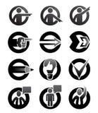 Símbolos de la atención Imagenes de archivo