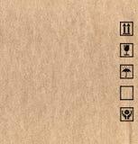 Símbolos de la caja de cartón Fotografía de archivo libre de regalías