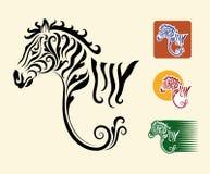 Símbolos de la cebra Imágenes de archivo libres de regalías