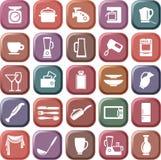 Símbolos de la cocina Fotografía de archivo libre de regalías