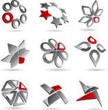 Símbolos de la compañía. Fotografía de archivo libre de regalías