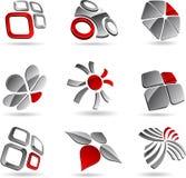 Símbolos de la compañía. Imágenes de archivo libres de regalías