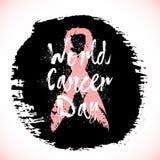 Símbolos de la conciencia del cáncer de pecho Imagen de archivo libre de regalías
