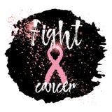 Símbolos de la conciencia del cáncer de pecho Fotografía de archivo libre de regalías