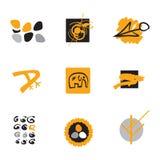 Símbolos de la ecología y de la naturaleza de la insignia imagen de archivo libre de regalías