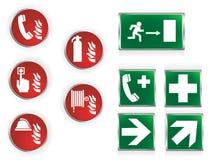 Símbolos de la emergencia Foto de archivo libre de regalías