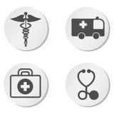 Símbolos de la emergencia Imagen de archivo libre de regalías