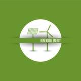 Símbolos de la energía renovable Foto de archivo
