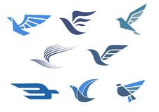 Símbolos de la entrega y del envío Imágenes de archivo libres de regalías