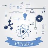 Símbolos de la física ilustración del vector