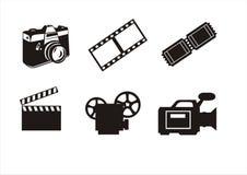 Símbolos de la fotografía y del cine Foto de archivo