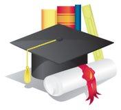 Símbolos de la graduación Foto de archivo libre de regalías