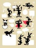 Símbolos de la historieta del conejo Fotos de archivo