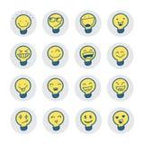 Símbolos de la idea con la emoción stock de ilustración