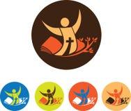Símbolos de la iglesia stock de ilustración