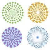 Símbolos de la ilusión óptica Fotos de archivo libres de regalías
