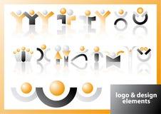 Símbolos de la insignia y del diseño del vector Imagenes de archivo