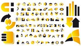 Símbolos de la insignia y del diseño del vector Imagen de archivo libre de regalías