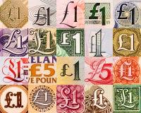 Símbolos de la libra de por todo el mundo Imagen de archivo libre de regalías