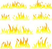 Símbolos de la llama stock de ilustración