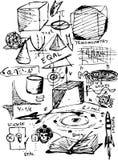 Símbolos de la matemáticas Imagen de archivo