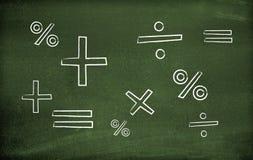 Símbolos de la matemáticas Fotografía de archivo